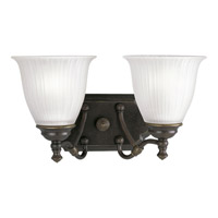 Progress Lighting Renovations 2 Light Bath Vanity in Forged Bronze P2730-77