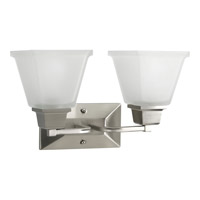 Progress Lighting North Park 2 Light Bath Vanity in Brushed Nickel P2738-09