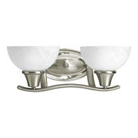 Progress Lighting Sentura 2 Light Bath Vanity in Brushed Nickel P2740-09