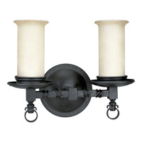 Santiago 2 Light 14 inch Forged Black Bath Vanity Wall Light