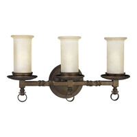 Progress Lighting Thomasville Santiago 3 Light Bath Vanity in Roasted Java P2754-102