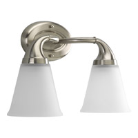 Progress Lighting Delta Lahara 2 Light Bath Vanity in Brushed Nickel P2759-09