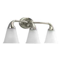 Progress Lighting Delta Lahara 3 Light Bath Vanity in Brushed Nickel P2760-09