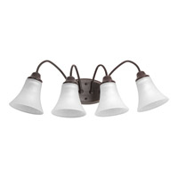 Progress Lighting Tally 4 Light Bath Vanity in Antique Bronze with Etched White Linen Glass P2764-20