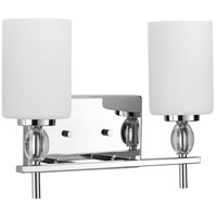 Status 2 Light 14 inch Polished Chrome Bathroom Vanity Wall Light