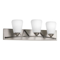 Progress Lighting Moments 3 Light Bath Vanity in Antique Nickel P2778-81