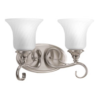 Progress Lighting Kensington 2 Light Bath Vanity in Brushed Nickel P2784-09