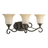 Progress Lighting Kensington 3 Light Bath Vanity in Forged Bronze P2785-77
