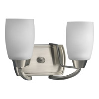 Progress Lighting Wisten 2 Light Bath Vanity in Brushed Nickel P2795-09