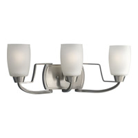 Wisten 3 Light 21 inch Brushed Nickel Bath Vanity Wall Light in Bulbs Included, Fluorescent