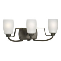 Wisten 3 Light 21 inch Antique Bronze Bath Vanity Wall Light in Bulbs Included, Fluorescent