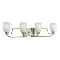 Progress Lighting Wisten 4 Light Bath Vanity in Brushed Nickel P2797-09