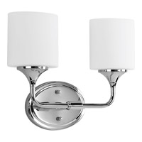 Progress Lighting Lynzie 2 Light Bath Vanity in Polished Chrome P2802-15