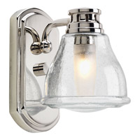 Progress P2810-15WB Academy 1 Light 5 inch Polished Chrome Bath Vanity Wall Light in Clear Seeded alternative photo thumbnail