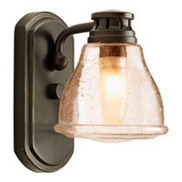 Progress P2810-20WB Academy 1 Light 5 inch Antique Bronze Bath Vanity Wall Light in Light Umber Seeded