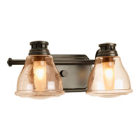 Progress P2811-20WB Academy 2 Light 14 inch Antique Bronze Bath Vanity Wall Light in Light Umber Seeded