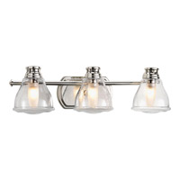 Academy 3 Light 22 inch Polished Chrome Bath Vanity Wall Light in Clear Seeded