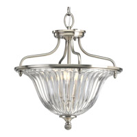 Progress Lighting Thomasville Roxbury 3 Light Semi-Flush Mount in Classic Silver P2817-101