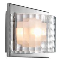 Progress P2823-15WB Cliche 1 Light 8 inch Polished Chrome Bath Vanity Wall Light