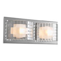 Cliche 2 Light 15 inch Polished Chrome Bath Vanity Wall Light
