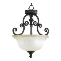 Progress Lighting Thomasville Guildhall 3 Light Semi-Flush Mount in Forged Black P2835-80