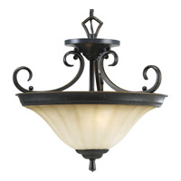 Le Jardin 2 Light 16 inch Espresso Close-to-Ceiling Ceiling Light