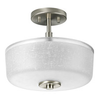 Progress Lighting Alexa 2 Light Semi-Flush Mount in Brushed Nickel P2851-09