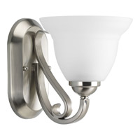 Progress P2881-09 Torino 1 Light 7 inch Brushed Nickel Bath Vanity Wall Light in Etched