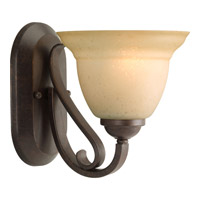 Progress P2881-77 Torino 1 Light 7 inch Forged Bronze Bath Vanity Wall Light in Tea-Stained
