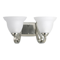Progress P2882-09 Torino 2 Light 16 inch Brushed Nickel Bath Vanity Wall Light in Etched