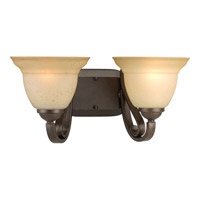 Progress P2882-77 Torino 2 Light 16 inch Forged Bronze Bath Vanity Wall Light in Tea-Stained