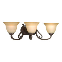 Progress P2883-77 Torino 3 Light 25 inch Forged Bronze Bath Vanity Wall Light in Tea-Stained