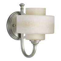 Progress P2885-134WB Ashbury 1 Light 6 inch Silver Ridge Bath Vanity Wall Light
