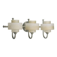 Ashbury 3 Light 24 inch Silver Ridge Bath Vanity Wall Light