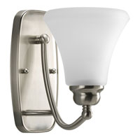 Progress Lighting Janos 1 Light Bath Vanity in Brushed Nickel P2908-09EBWB