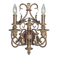 Progress Lighting Thomasville Elysian 2 Light Wall Bracket in Golden Brandy P2912-02