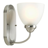 Progress P2913-09 Heart 1 Light 6 inch Brushed Nickel Bath Vanity Wall Light photo thumbnail