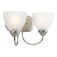 Progress Lighting Heart 2 Light Bath Vanity in Brushed Nickel P2915-09