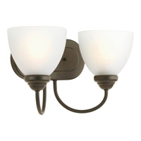 Progress Lighting Heart 2 Light Bath Vanity in Antique Bronze P2915-20