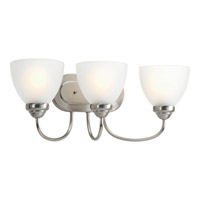 Progress Lighting Heart 3 Light Bath Vanity in Brushed Nickel P2919-09