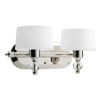 Progress Lighting Fortune 2 Light Bath Vanity in Polished Nickel P2920-104WB