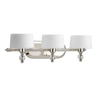 Progress Lighting Fortune 3 Light Bath Vanity in Polished Nickel P2927-104WB