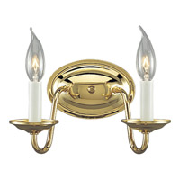 Progress Lighting Americana 2 Light Wall Bracket in Polished Brass P2936-10