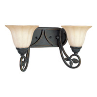 Le Jardin 2 Light 17 inch Espresso Bath Vanity Wall Light