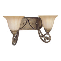 Progress Lighting Le Jardin 2 Light Bath Vanity in Biscay Crackle P2967-91C