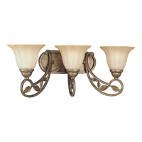 Progress Lighting Le Jardin 3 Light Bath Vanity in Biscay Crackle P2968-91C
