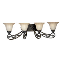 Progress P2969-84 Le Jardin 4 Light 34 inch Espresso Bath Vanity Wall Light