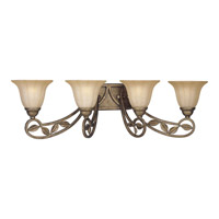 Le Jardin 4 Light 34 inch Biscay Crackle Bath Vanity Wall Light