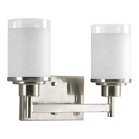 Progress Lighting Alexa 2 Light Bath Vanity in Brushed Nickel P2977-09