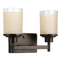 Progress Lighting Alexa 2 Light Bath Light in Antique Bronze P2977-20